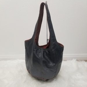Lucky Brand hobo shoulder bag black grey ombré
